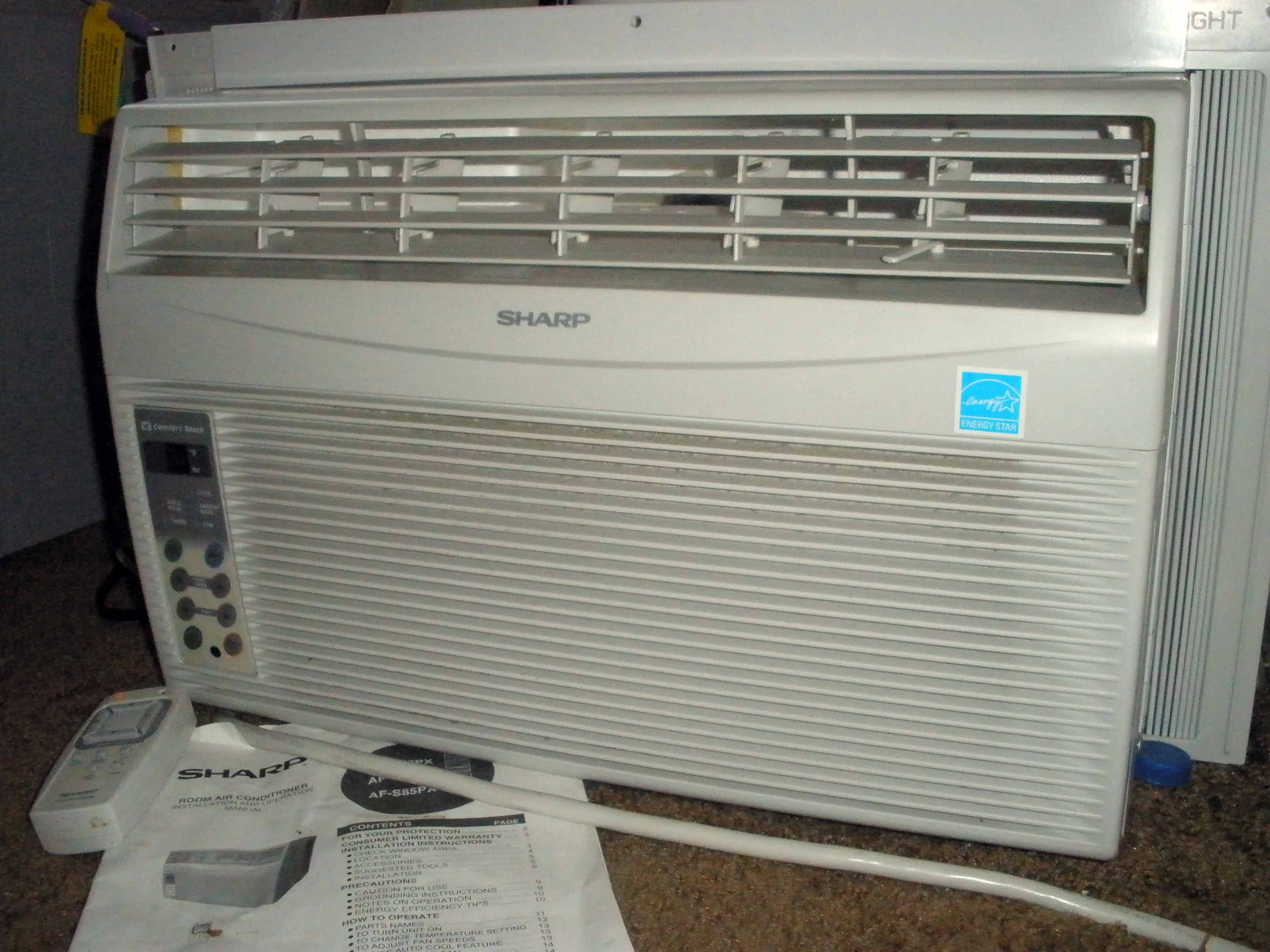 8000 BTU SHARP apartment Air Conditioner Scion xB Forum #079DC4